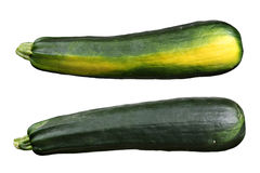 Zucchini isolated on white background. Pair of zucchini isolated on white background Stock Photo