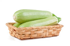 Zucchini isolated. On white background stock photography