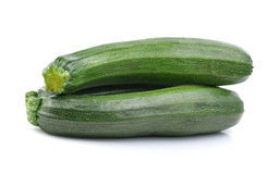 Zucchini isolated on white background Royalty Free Stock Images