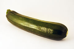 Zucchini. An isolated zucchini with white background royalty free stock photo
