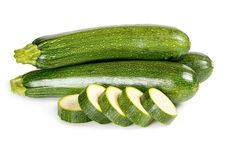 Zucchini isolated on white Stock Photography