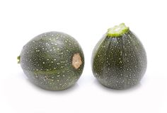 Zucchini isolated on white Royalty Free Stock Photo