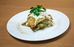 Zucchini-Kartoffelpfannkuchen Lizenzfreie Stockfotografie