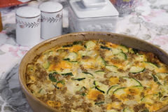 Zucchini-Kasserolle Lizenzfreies Stockbild