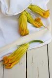 Zucchini kwiaty Obraz Stock