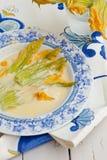 Zucchini kwiaty Obrazy Stock
