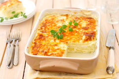 Zucchini-Lasagne Lizenzfreie Stockbilder