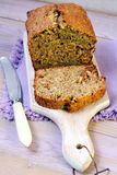 Zucchini loaf cake with raisin Royalty Free Stock Photography