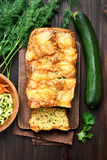 Zucchini loaf cake, top view Stock Images