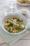 Zucchini makaron Zdjęcie Stock