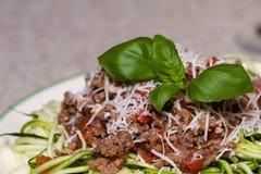 Zucchini makaronu naczynie Fotografia Stock