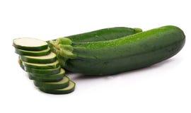 Zucchini maturo isolato Fotografia Stock