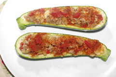 Zucchini and meat stuffing Royalty Free Stock Photo