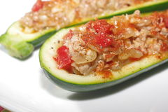 Zucchini and meat stuffing Royalty Free Stock Photography