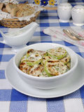 Zucchini in milk sauce Royalty Free Stock Image