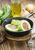 Zucchini mit Fleisch Stockfotos