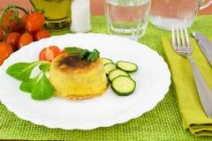 Zucchini mit ricotta Käse soufflé Lizenzfreies Stockfoto