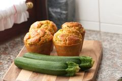 Zucchini muffins Royalty Free Stock Images