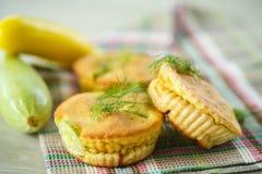 Zucchini muffins stock photo