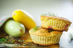 Zucchini muffins stock image