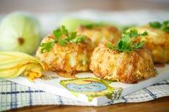 Zucchini muffins stock images