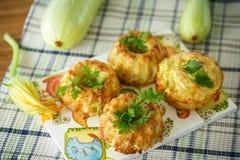 Zucchini muffins Stock Photos