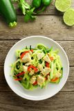 Zucchini noodle dish overhead view Stock Images