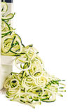 Zucchini Noodles Isolated on White Royalty Free Stock Photos