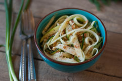 Zucchini noodles salad Royalty Free Stock Photography