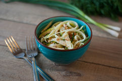Zucchini noodles salad Royalty Free Stock Photos