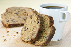 Zucchini nut bread Royalty Free Stock Photo