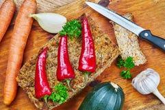 Zucchini- och champinjonpaj Royaltyfria Bilder