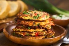 Zucchini- och spansk pepparstruva Arkivfoton
