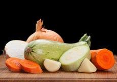 Zucchini Oion i marchewka fotografia stock