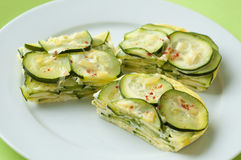 Zucchini omelette Royalty Free Stock Images