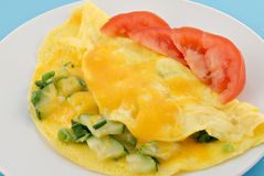 Zucchini Omelette Royalty Free Stock Photo