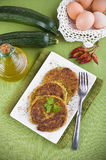 Zucchini omelettes. Royalty Free Stock Images