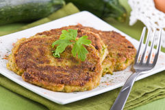 Zucchini omelettes. Royalty Free Stock Photography