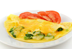 Zucchini & Onion Omelette Stock Photography