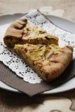 Zucchini and onion tart Stock Photos