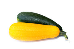 Zucchini over white background Royalty Free Stock Images