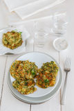 Zucchini pancakes Royalty Free Stock Photo