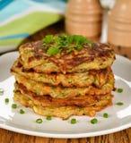 Zucchini pancakes Stock Photography