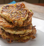 Zucchini pancakes Stock Photography