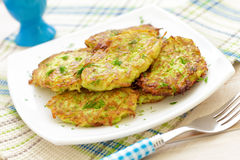 Zucchini pancakes Stock Images