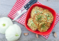 Zucchini pancakes Royalty Free Stock Photography