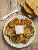 Zucchini pancakes Stock Image