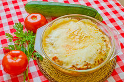 Zucchini parmesan Royalty Free Stock Photo