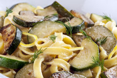 Zucchini Pasta Royalty Free Stock Images