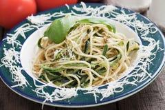 Zucchini pasta Royalty Free Stock Image